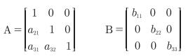 采用AB模型对其加以识别,以三变量模型为例的A、B矩阵形式
